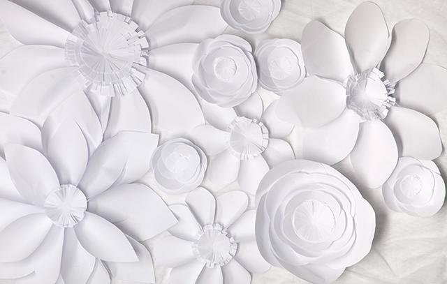 Make it white paper flowers jillson roberts paper paper flowers backdrop mightylinksfo